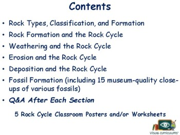 The Rock Cycle & Fossils lesson flashcards task card study guide state exam prep