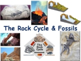 The Rock Cycle & Fossils Lesson & Flashcards - task card, study guide, 2018 2019