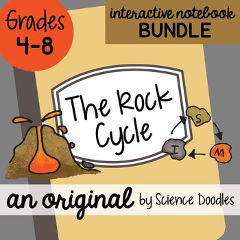The rock cycle interactive notebook bundle by science doodles tpt the rock cycle interactive notebook bundle by science doodles ccuart Images