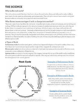 The Rock Cycle - Modeling the Cycle with a Hands-on Activity and a Flow Chart