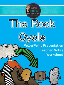 The Rock Cycle Power Point Presentation, Teacher Guide and Worsheet