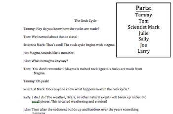 The Rock Cycle Readers Theater