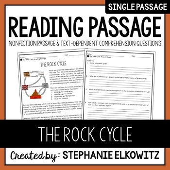 The Rock Cycle Reading Passage
