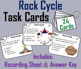 The Rock Cycle Task Cards (Geology Unit: with Weathering and Erosion)
