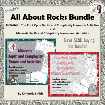 The Rock Cycle and Minerals Depth and Complexity Bundle