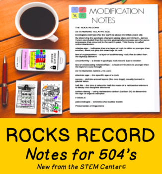 The Rock Record Notes for Modifications & Accommodations