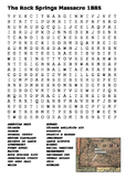 The Rock Springs Massacre 1885 Word Search