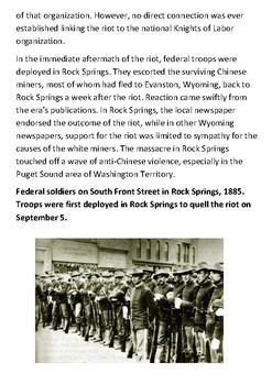 The Rock Springs Massacre Handout