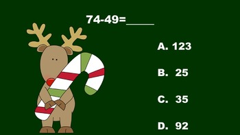 The Rockin' Reindeers' Double Digit Addition/Subtraction PowerPoint Game