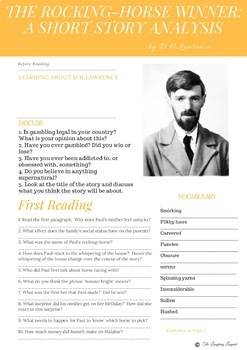 The Rocking-Horse Winner by DH Lawrence. FULL lesson plan w/ HQ worksheets.