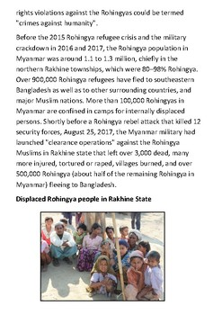 The Rohingya people Handout