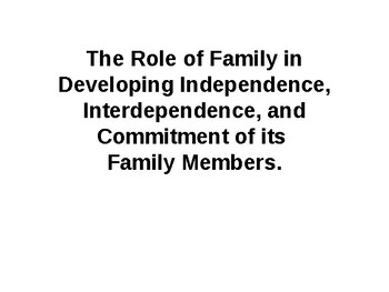 The Role of Family Notes