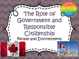 The Role of Government and Responsible Citizenship Task Cards