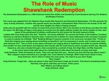 Mozart's Clip in  Shawshank Redemption - Bill Burton & Jack Cone