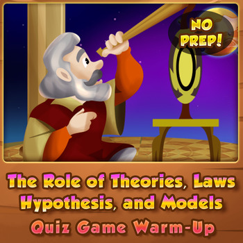 The Role of Theories, Models, Laws, and Hypothesis - Quiz Game Warm-up
