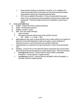 The Role of Water in Biology - Quick Review Biology Notes