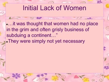 The Role of Women in Virginia PowerPoint