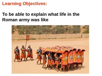 The Roman Army Quiz and Plenary/Review
