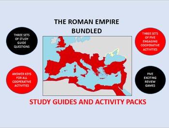 The Roman Empire Bundle: Study Guide/Activity Packs