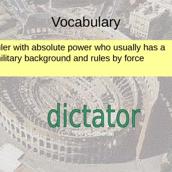 The Roman Empire In-Class Support Vocabulary Powerpoint