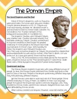 The Roman Empire Socractic Seminar Lesson Plan