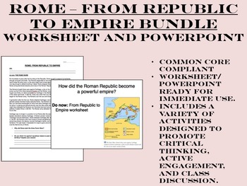 Rome - From Republic to Empire Bundle - Global/World History Common Core