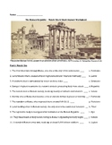 The Roman Republic - Match 'Em & Short Answer Worksheet