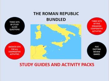 The Roman Republic Bundle: Study Guide/Activity Packs