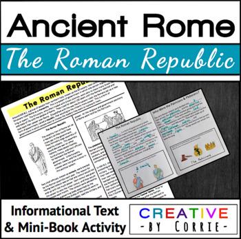 The Roman Republic Reading Handout & Mini Book Activity - Ancient Rome