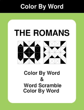 The Romans - Color By Word & Color By Word Scramble Worksheets