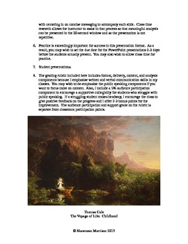 Visual Art in the Romantic Era:  Student PowerPoint Activity
