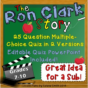 The Ron Clark Story Movie Quiz