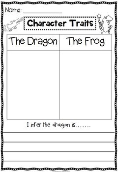 Room on the Broom Character Traits Sorting