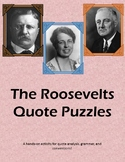 The Roosevelts Quote Puzzles BUNDLE