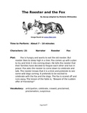 The Rooster and the Fox - Small Group Reader's Theater by Aesop