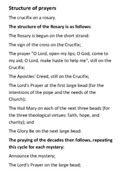 The Rosary Handout