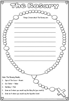 Mary & The Rosary ~ Posters, Worksheets and Fact Sheet