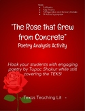 The Rose that Grew from Concrete Poetry Analysis Activity