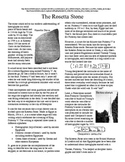 The Rosetta Stone - Five Printable Worksheets, Crossword,