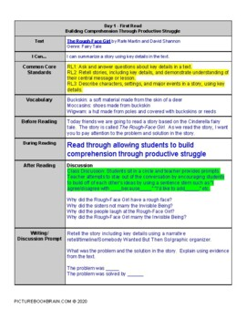 The Rough-Face Girl by Rafe Martin and David Shannon Lesson Plan and Activities