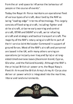 The Royal Air Force at 100 Handout