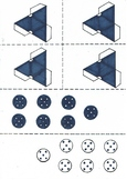 The Royal Game of Ur - Counters and Tetrahedron Dice templates
