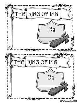 "The Royal King Of Ing Mini Book:  Verbs, using ""ing"" words (Great for TK or K)"