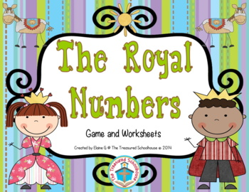 The Royal Numbers Game Mat for 0-50