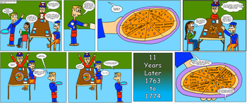Canadian History Cartoon - Royal Proclamation Pizza