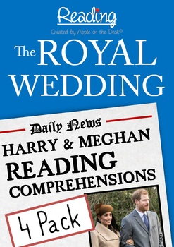 The Royal Wedding: Harry and Meghan Reading Comprehensions - 4 Pack