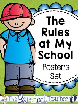 Back to School Activities - The Rules at My School Posters Set