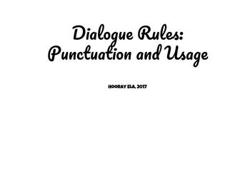The Rules for Using Dialogue