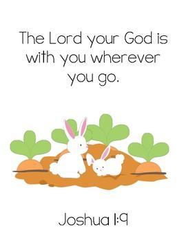 the runaway bunny bible verse printable joshua 1 9 by little