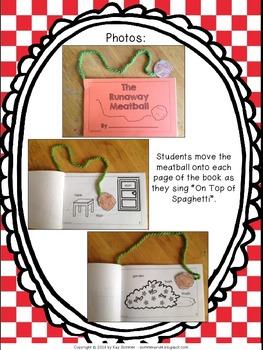The Runaway Meatball {interactive book}